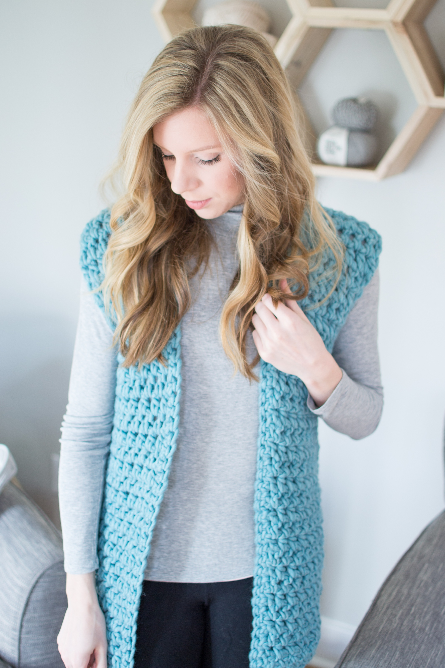 the midwest vest crochet pattern - woods and wool